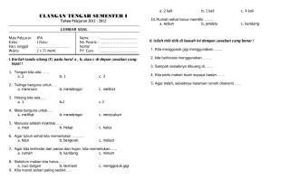 Soal UTS Semester I Kelas 1 IPA.pdf