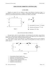 E - Circuito de corrente Continua (DC).doc