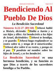 Bendiciendo Al Pueblo De Dios.doc