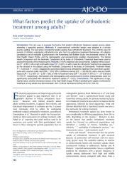 What factors predict the uptake of orthodontic.pdf