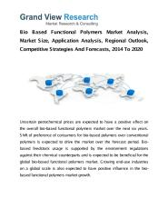 Bio Based Functional Polymers Market Analysis.pdf