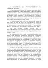 A IMPORTÂNCIA DA PSICOMOTRICIDADE NA EDUCAÇÃO INFANTIL.doc