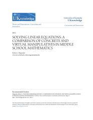 SOLVING LINEAR EQUATIONS- A COMPARISON OF CONCRETE AND VIRTUAL MA.pdf