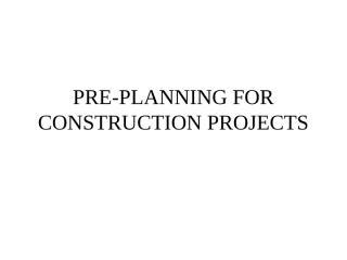 PREPLANNING.ppt