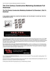 The 21st Century Construction Marketing Guidebook Full Download-html.pdf