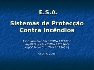 Sistemas de Protecção Contra Incêndios.ppt
