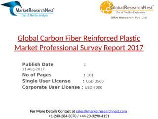 Global Carbon Fiber Reinforced Plastic Market Professional Survey Report 2017.pptx