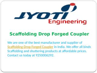 Scaffolding Drop Forged Coupler.pptx