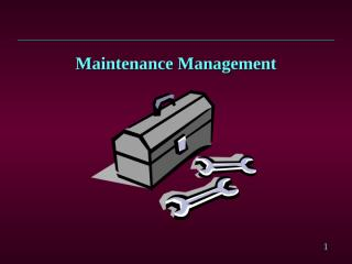 Maintenance Management.ppt