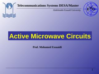 Active Microwave Circuit.ppt