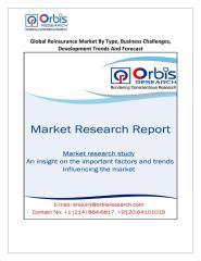 Global Reinsurance Market By Type, Business Challenges, Development Trends And Forecast.pdf