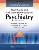 Kaplan and Sadock's Study Guide and Self-Examination Review in Psychiatry, 9th Ed. [Psychopath].pdf