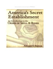 America's secret establishment - Dr. Antony Sutton.pdf