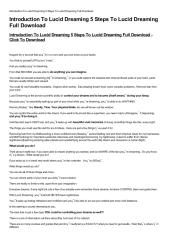 Introduction To Lucid Dreaming 5 Steps To Lucid Dreaming Full Download-html.pdf