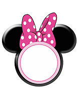 Minnie Bow Head White Circle