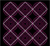 Bending square lines illusion gif